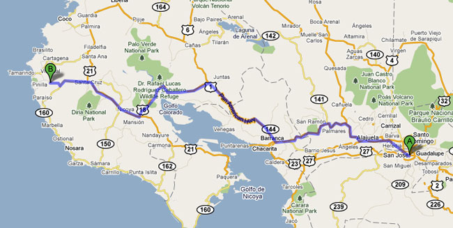 driving san jose to el sabanero part 1